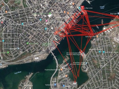 FLiteTraX GPS/GSM tags used to track Herring Gulls in Portland Maine.